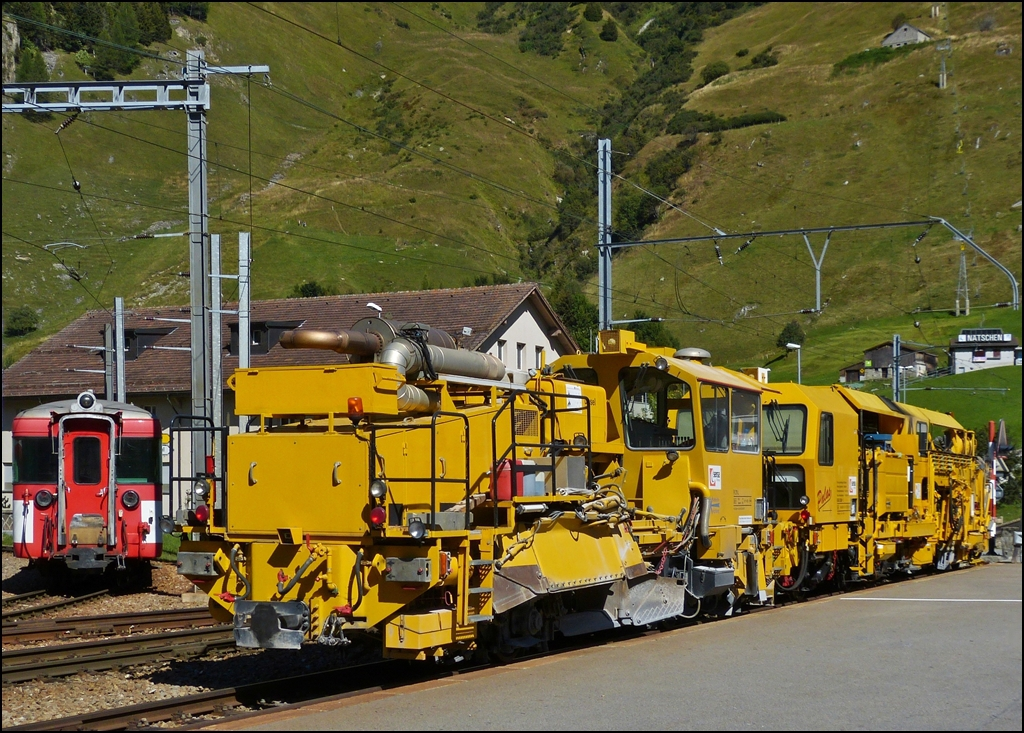 Two maintenance engines photographed in Andermatt on September 16th, 2012.