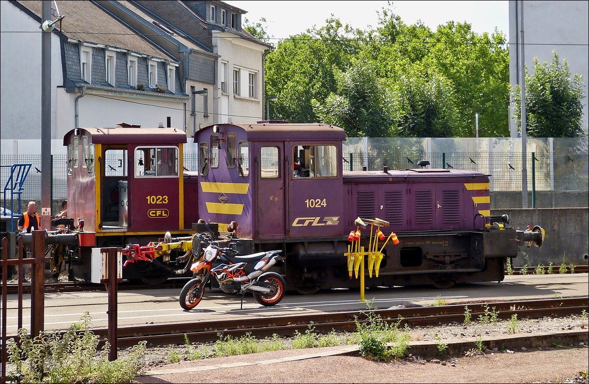 . 1023 and 1024 pictured side by side in Luxembourg City on July 15th, 2014.