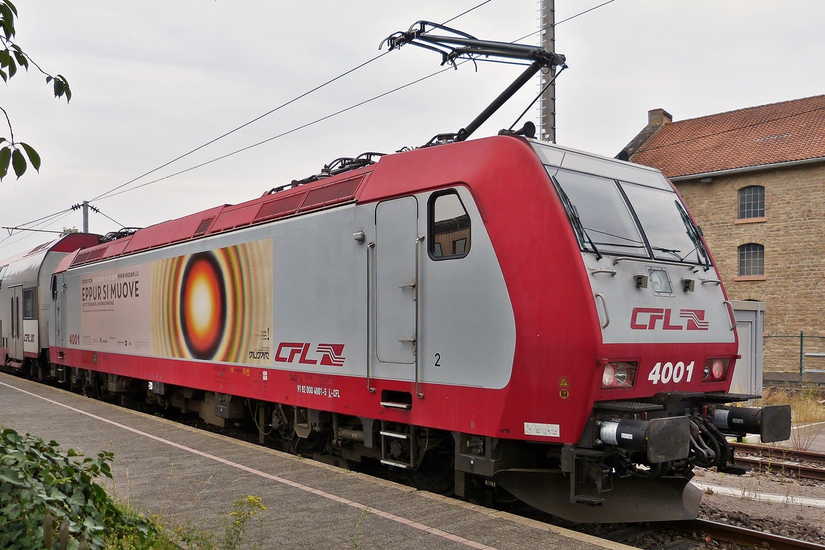 . 4001 photographed in Diekirch on August 10th, 2015.