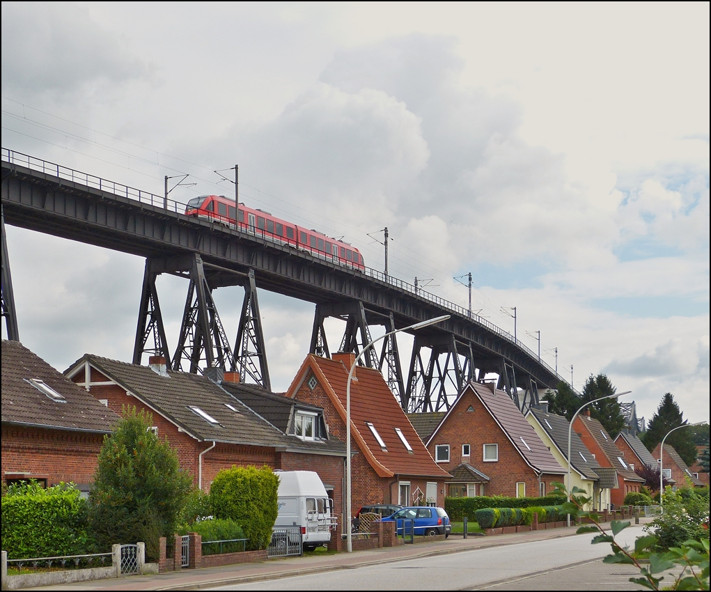 . A 648 unit is running on the bridge in Rendsburg on September 18th, 2013.