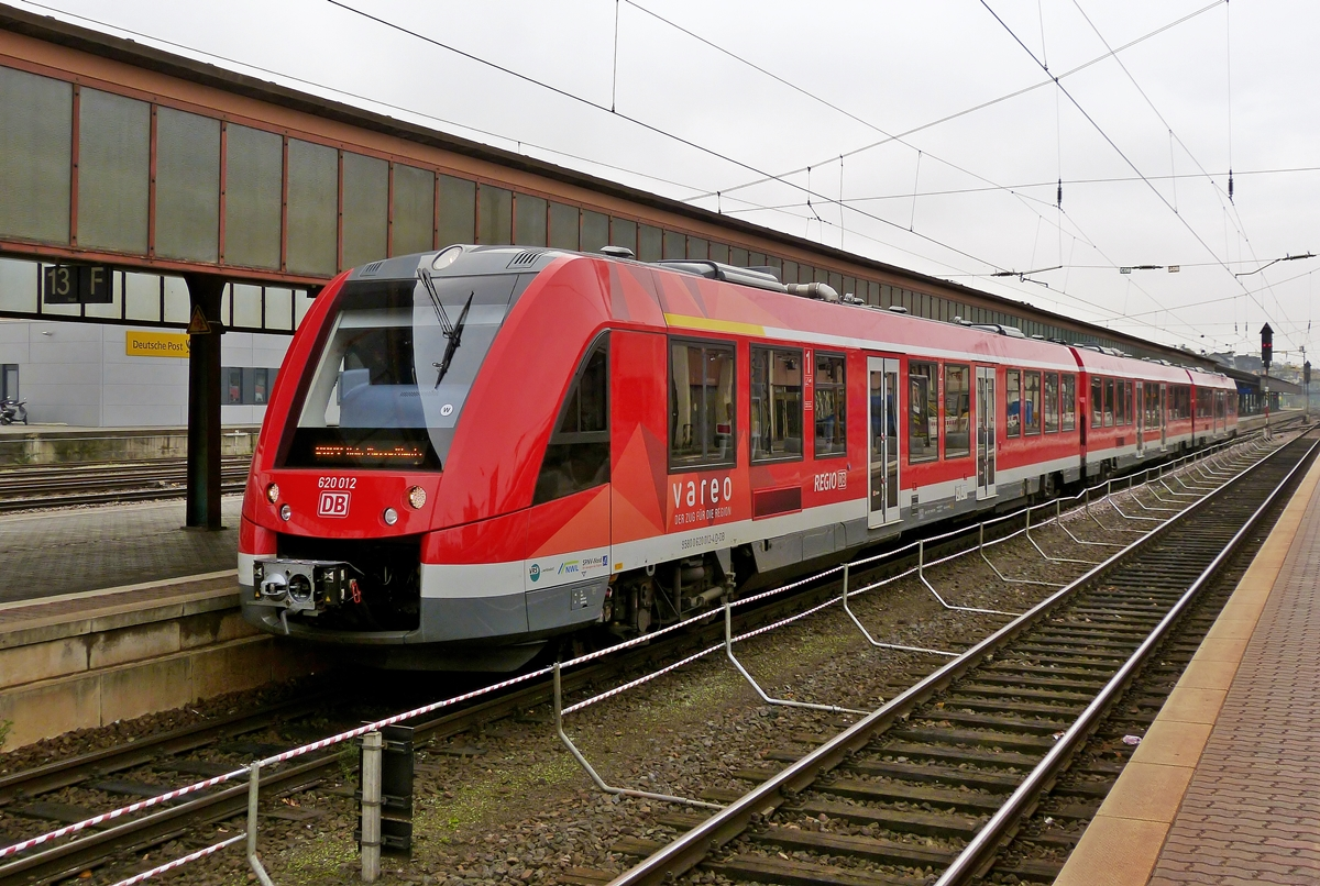 . A new DB Regio (Vareao) LINT 81 photographed in Trier main station on October 31st, 2014.