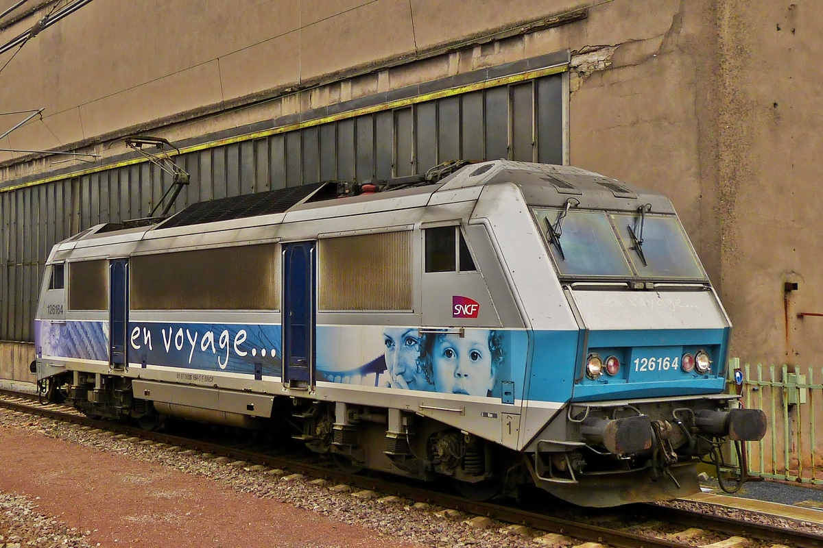 . BB 26164 (91 87 0026 164-0 F-SNCF) photographed in Luxembourg City on October 31st, 2014.