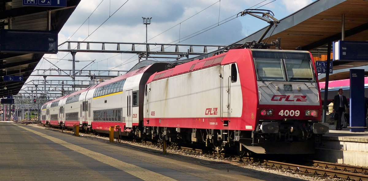 . CFL push-pull train taken in Luxembourg City on July 15th, 2014.