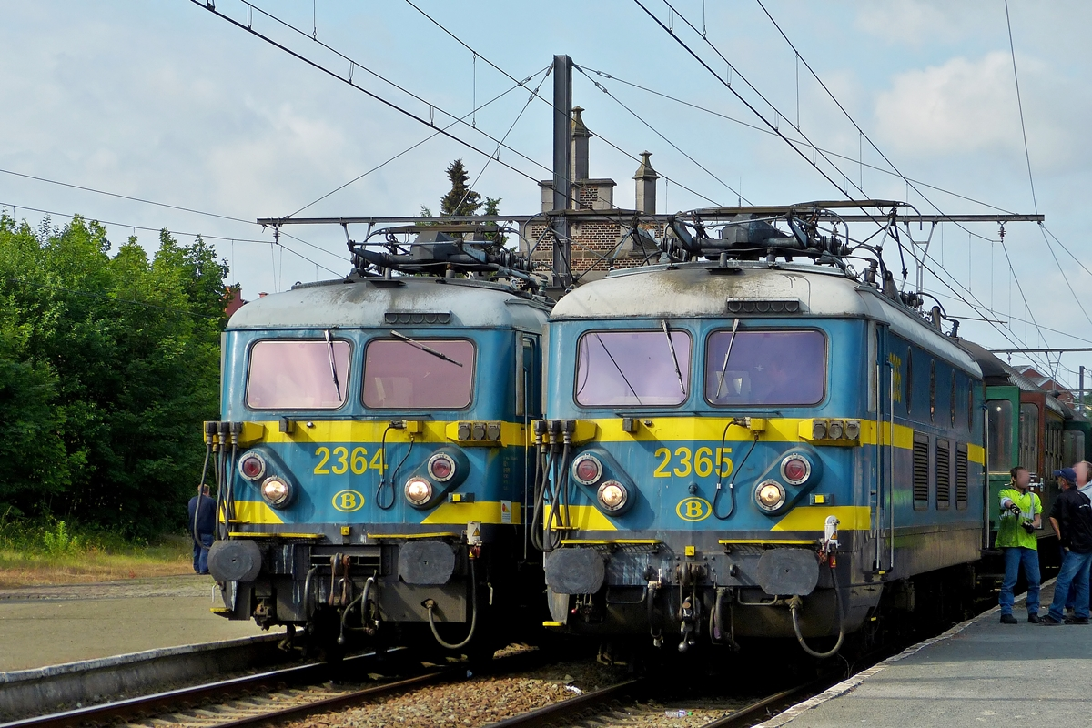. HLE 2364 and HLE 2365 pictured in Binche on June 23rd, 2012.