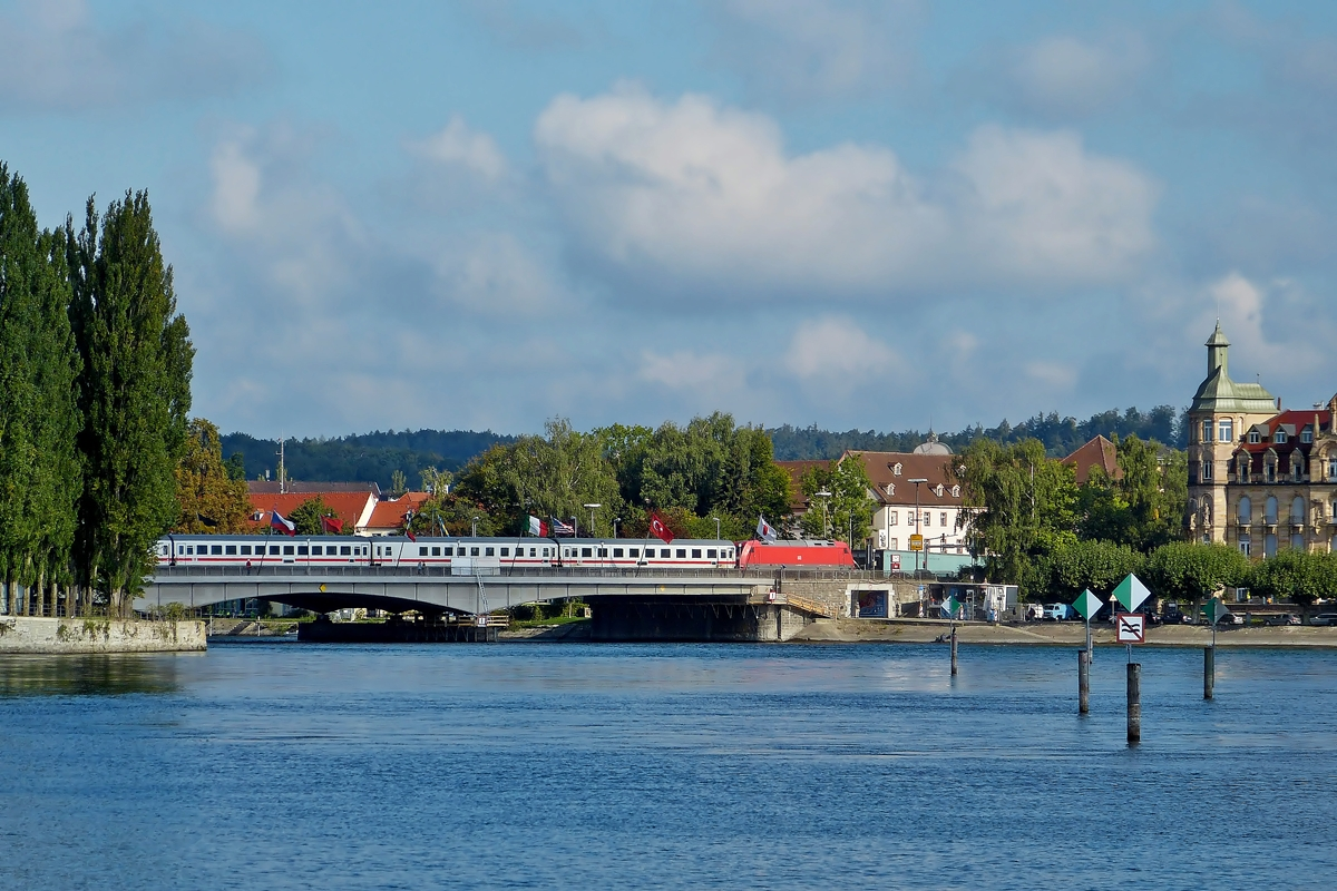 . IC photographed on the Rhine Bridge in Konstanz on September 13th, 2012.