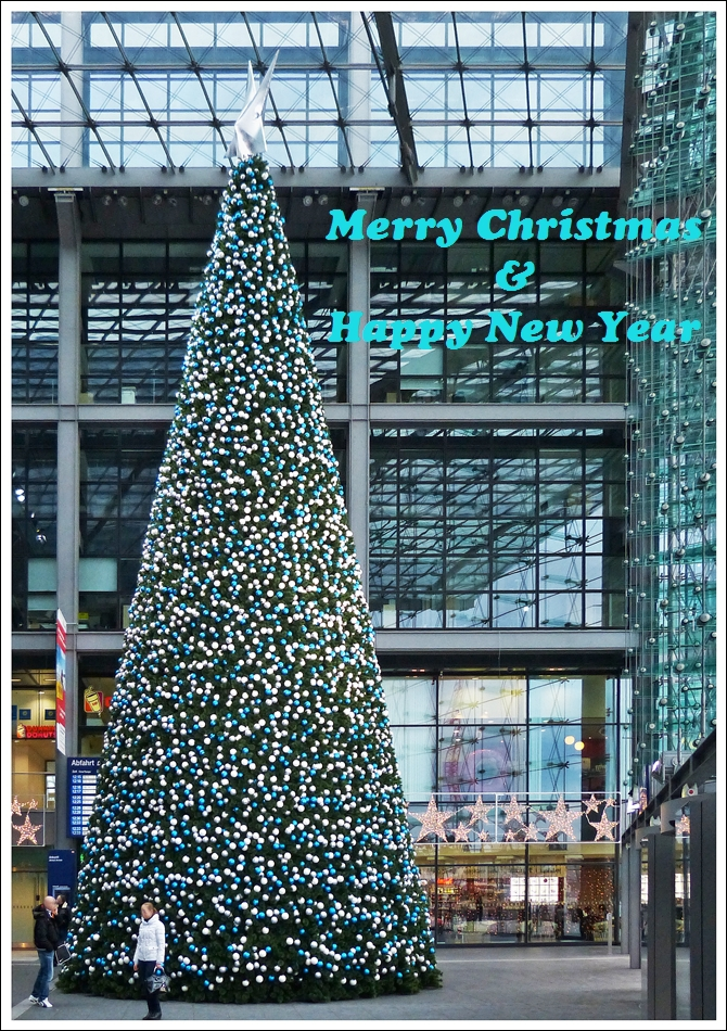 . Merry Christmas and happy new year. Berlin main station, December 25th, 2012.