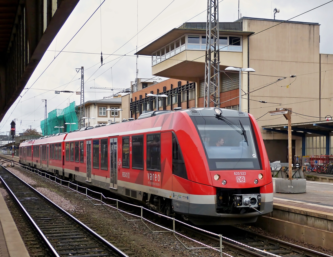 . The Alstom Coradia LINT 81 620 522 photographed in Trier main station on November 3rd, 2014.