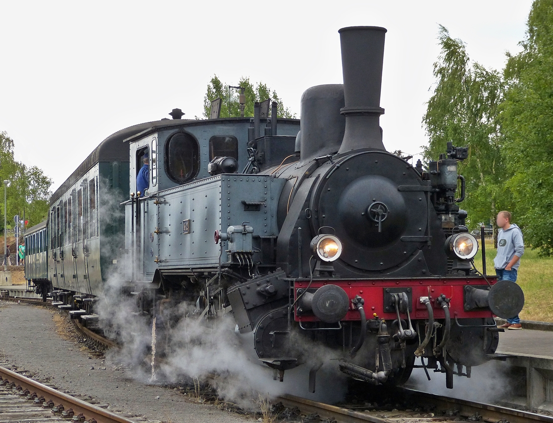 . The AMTF steamer N° 12 (ADI 12) of the heritage railway  Train 1900  pictured in Pétange on July 26th, 2015.