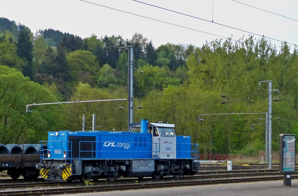 . The CFL Cargo 1502 pictured in Ettelbrück on April 24th, 2014.