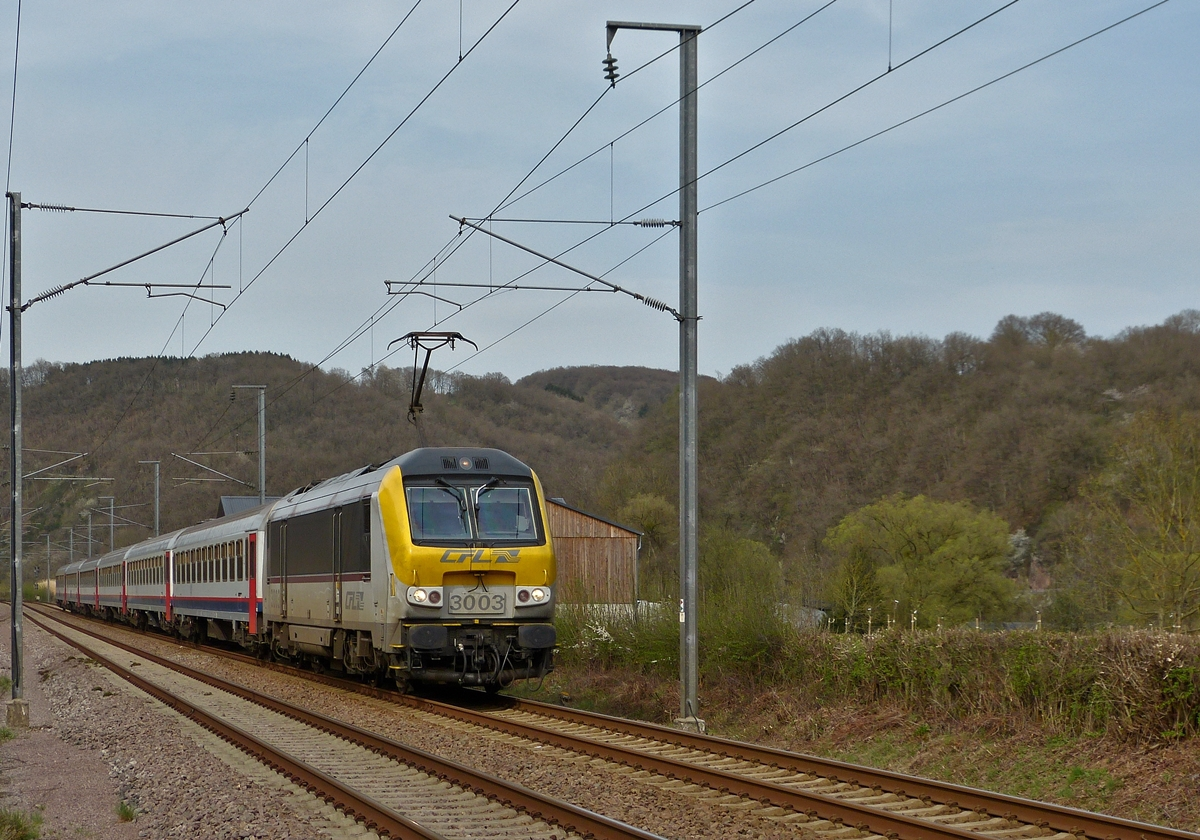 . The IC 114 Liers - Luxembourg City is running through Erpeldange/Ettelbrück on April 16th, 2015.