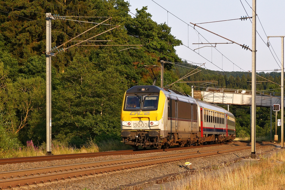 . The IC 121 Luxembourg City - Liers is headed by 3003 in Wilwerwiltz on July 16th, 2015.