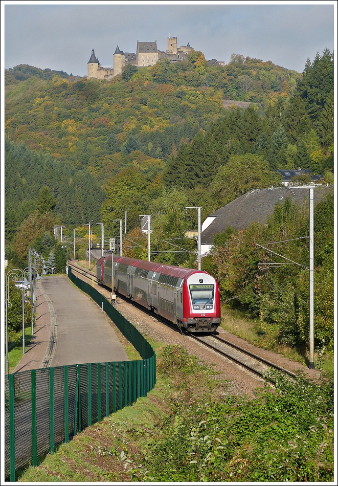 . The IR 3710 Luxembourg City - Troisvierges is running through Michelau on October 19th, 2013.