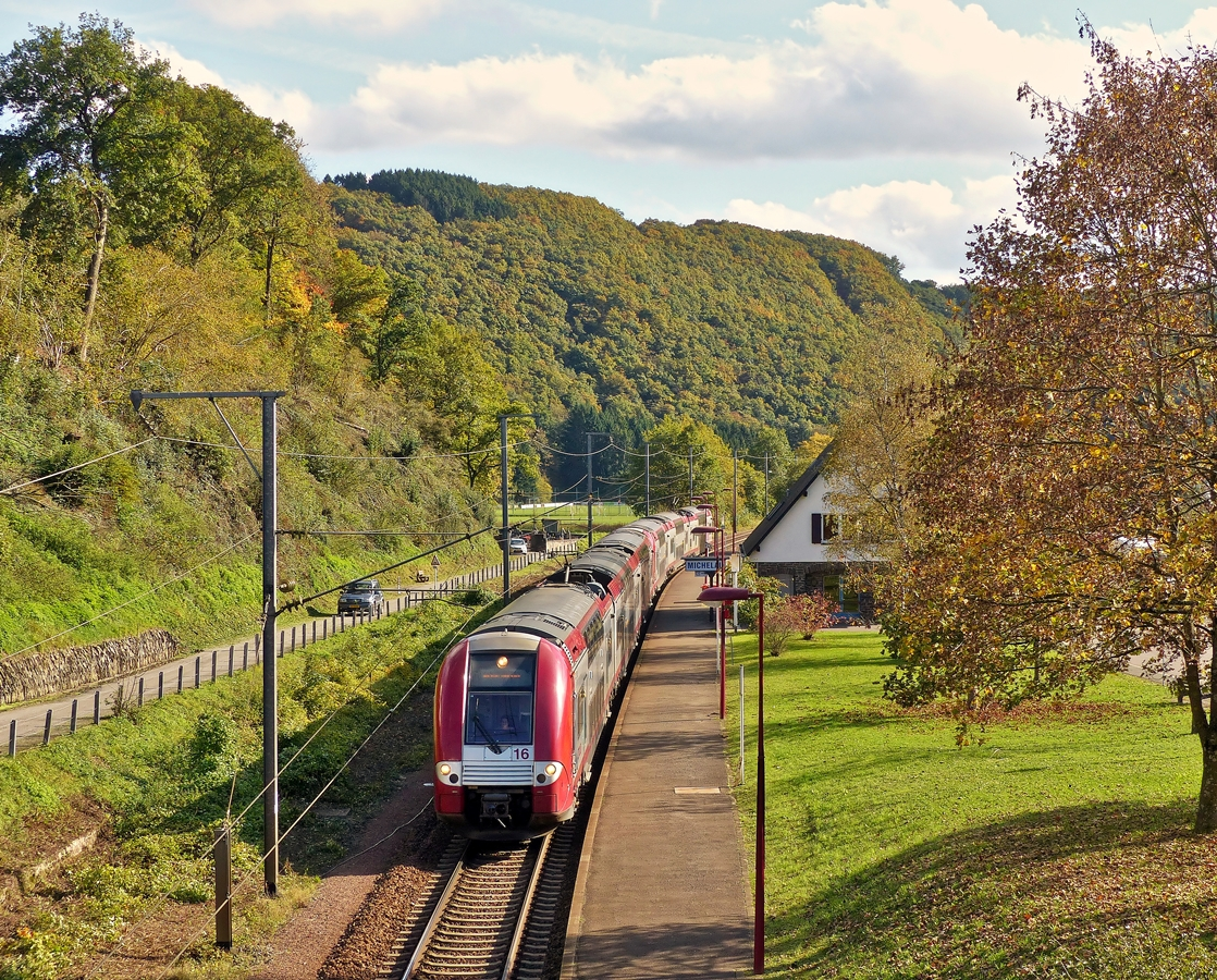 . The IR 3714 Luxembourg City - Troisvierges is running without stop through Michelau on October 14th, 2014.