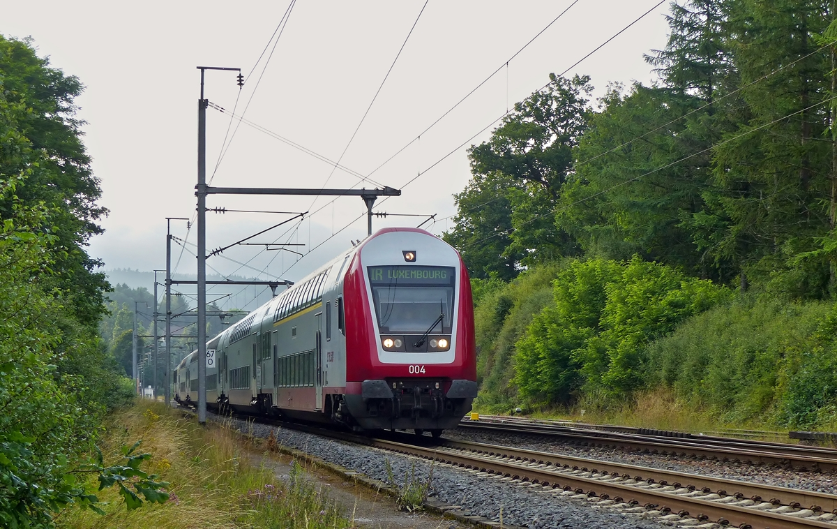 . The IR 3745 Troisvierges - Luxembourg City photographed in Wilwerwiltz on July 11th, 2014.