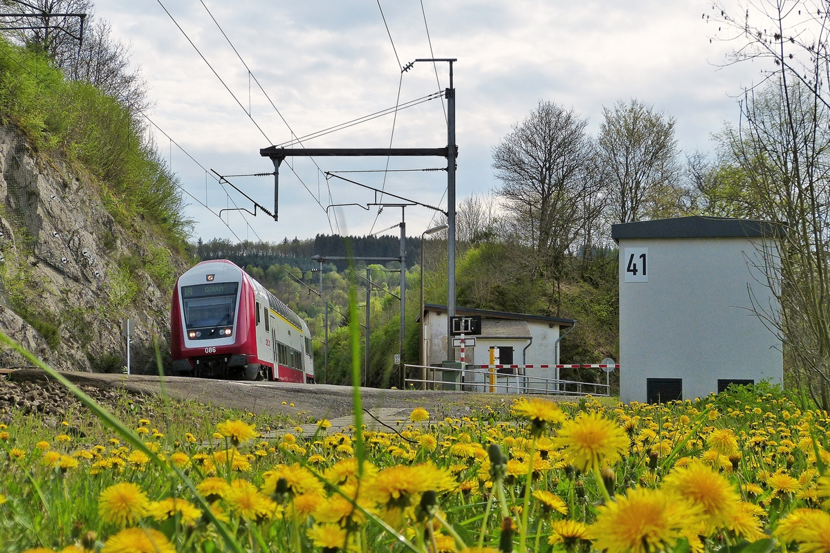 . The IR 3816 Luxembourg City - Gouvy photographed near Enscherange on April 25th, 2014.