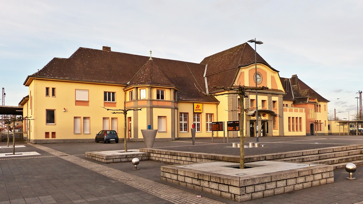 . The main station of Saarlouis taken on April 2nd, 2015.