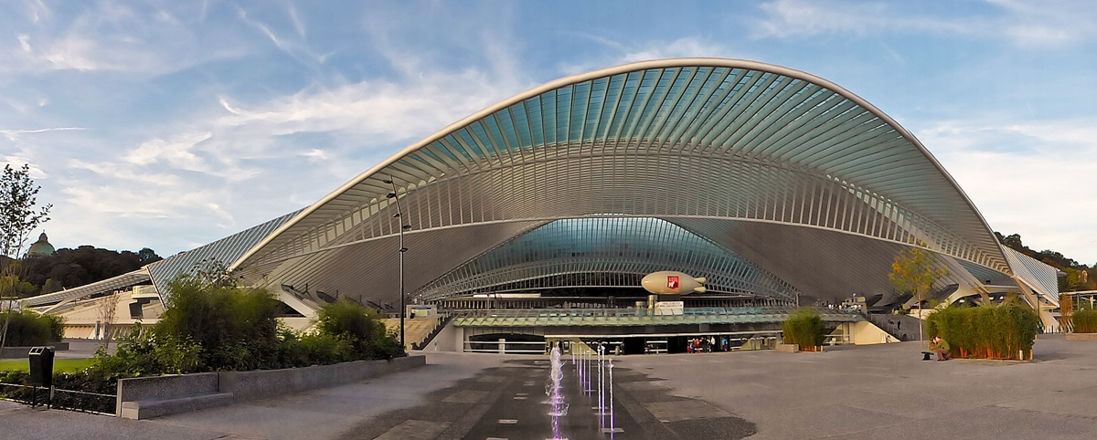 . The station Liège Guillemins photographed on October 18th, 2014.