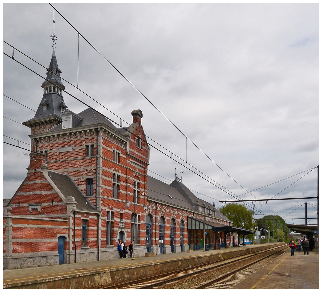 . The station of Saint-Ghislain photographed on May 11th, 2013.