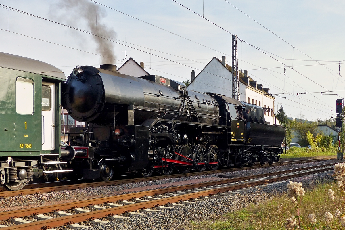 . The steam engine 5519 photographed in Perl on October 19th, 2014.