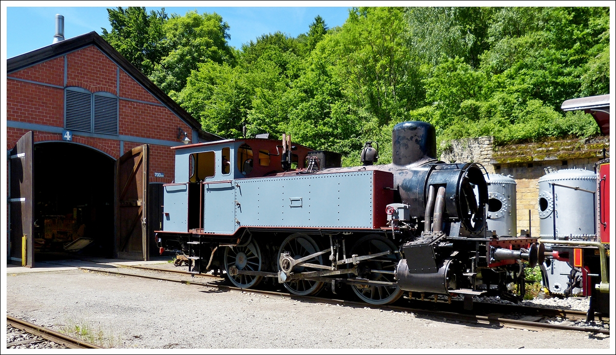 . The steam locomotive N° 12 (ADI 12) of the heritage railway Train 1900 pictured during its restoration in Fond de Gras on June 16th, 2013. ARBED Differdange was the former owner of this eingine of the type T7 pr, built by HANOMAG in 1903.