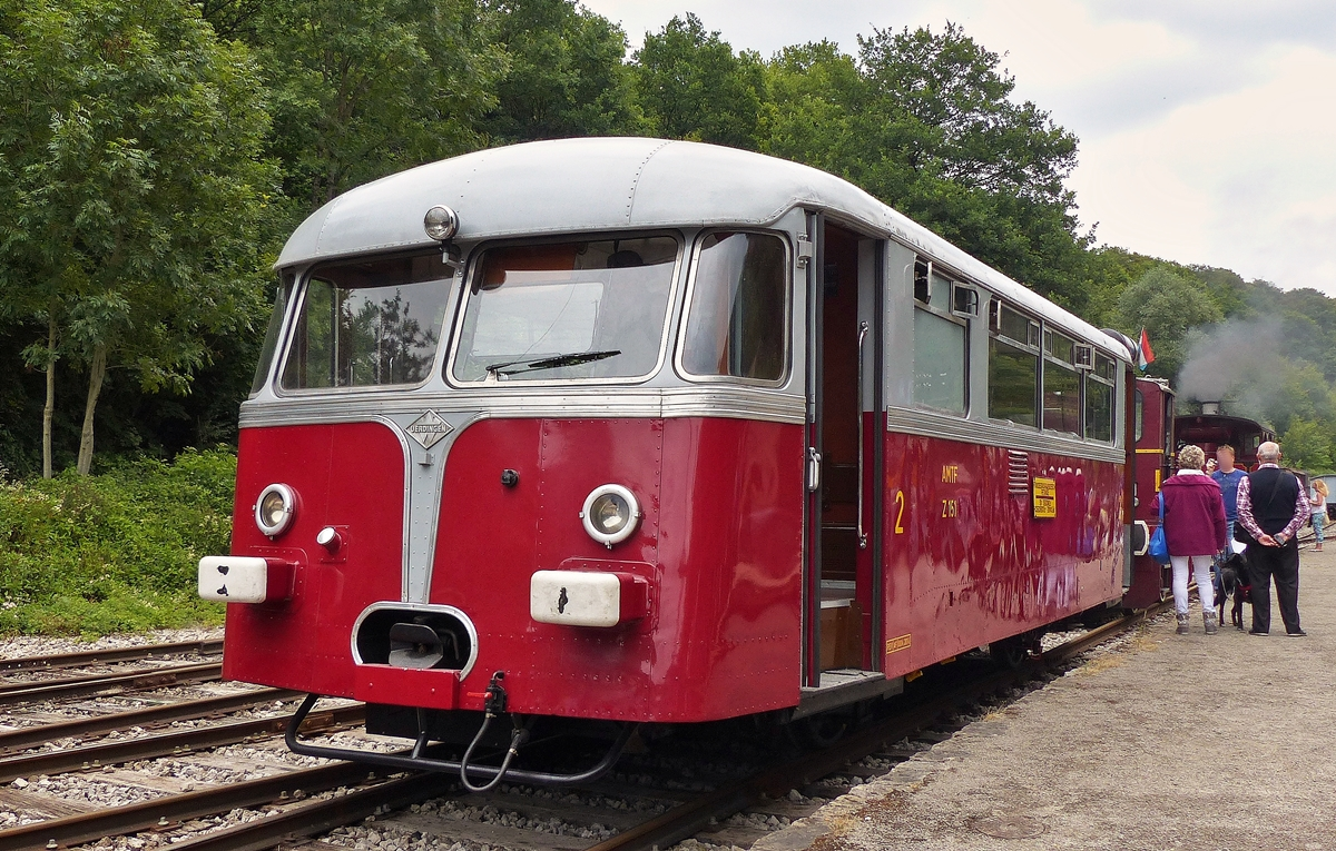 . The Uerdinger rail car Z 151 of the heritage railway  Train 1900  photographed in Fond de Gras on July 26th, 2015.
