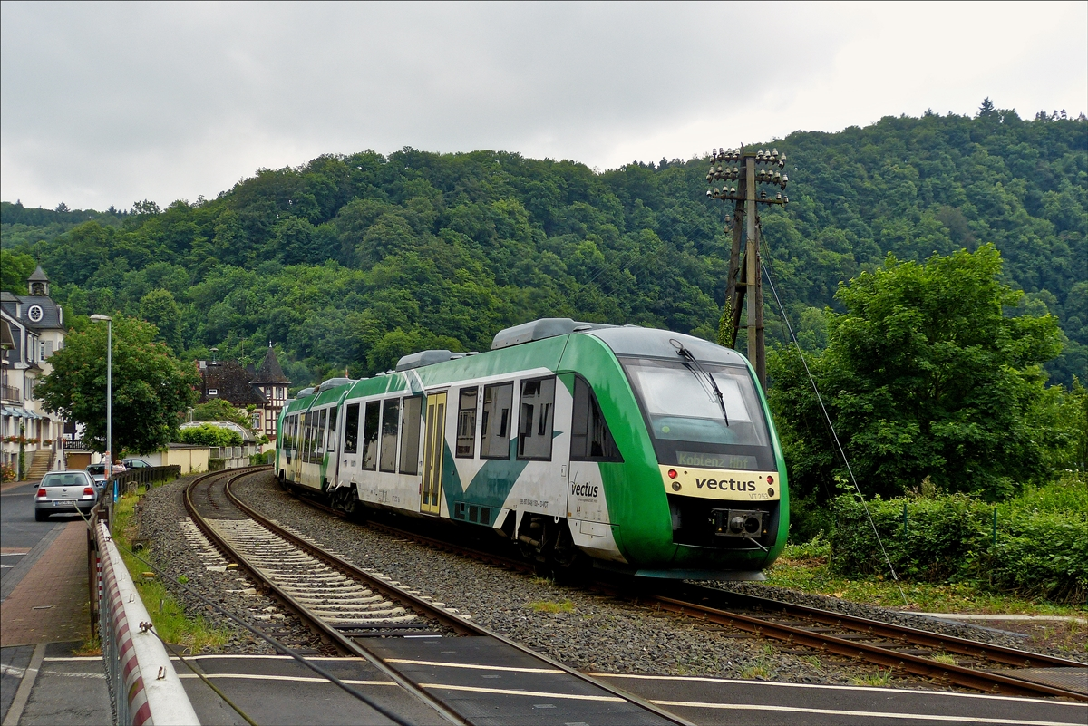 . The Vectus VT 253 is running through Balduinstein on May 26th, 2014.
