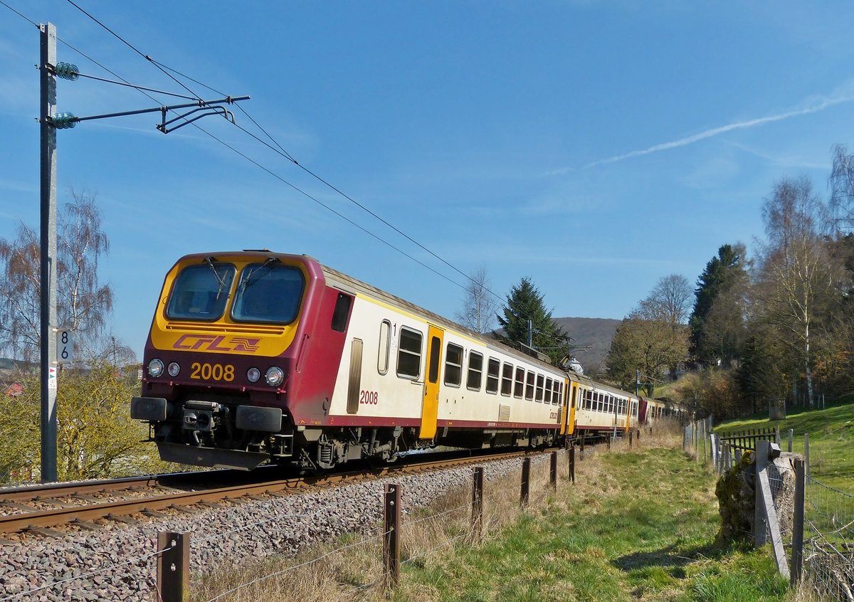 . Z 2000 double unit is running through Wiltz on March 28th, 2014.