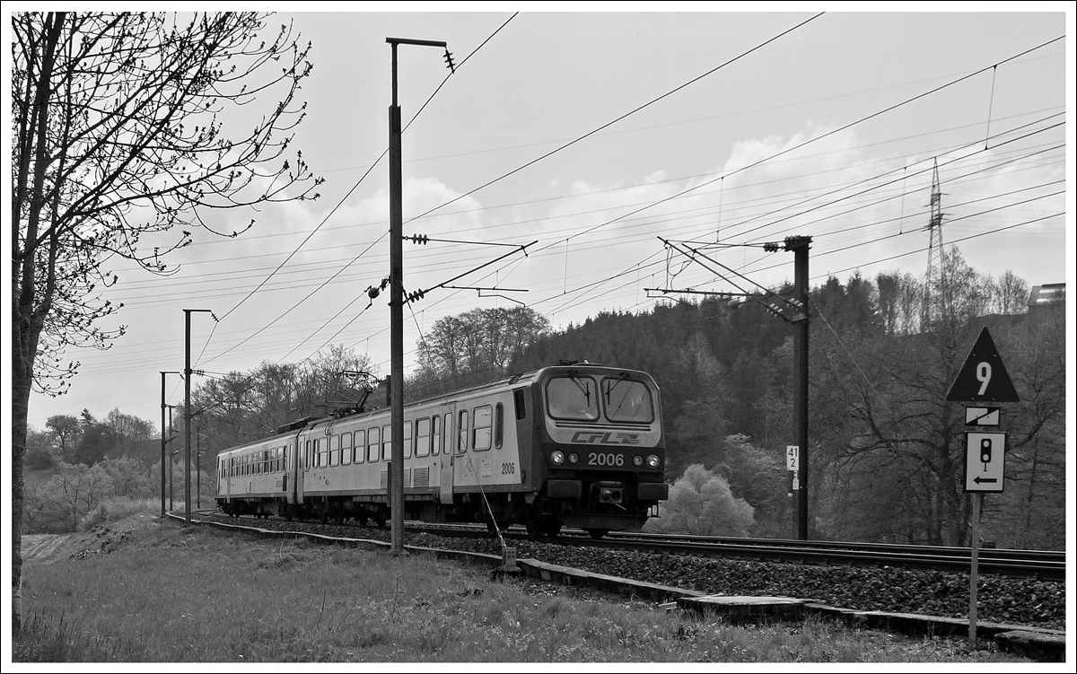 . Z 2006 photographed between Cruchten and Colmar-Berg on May 3rd, 2013.