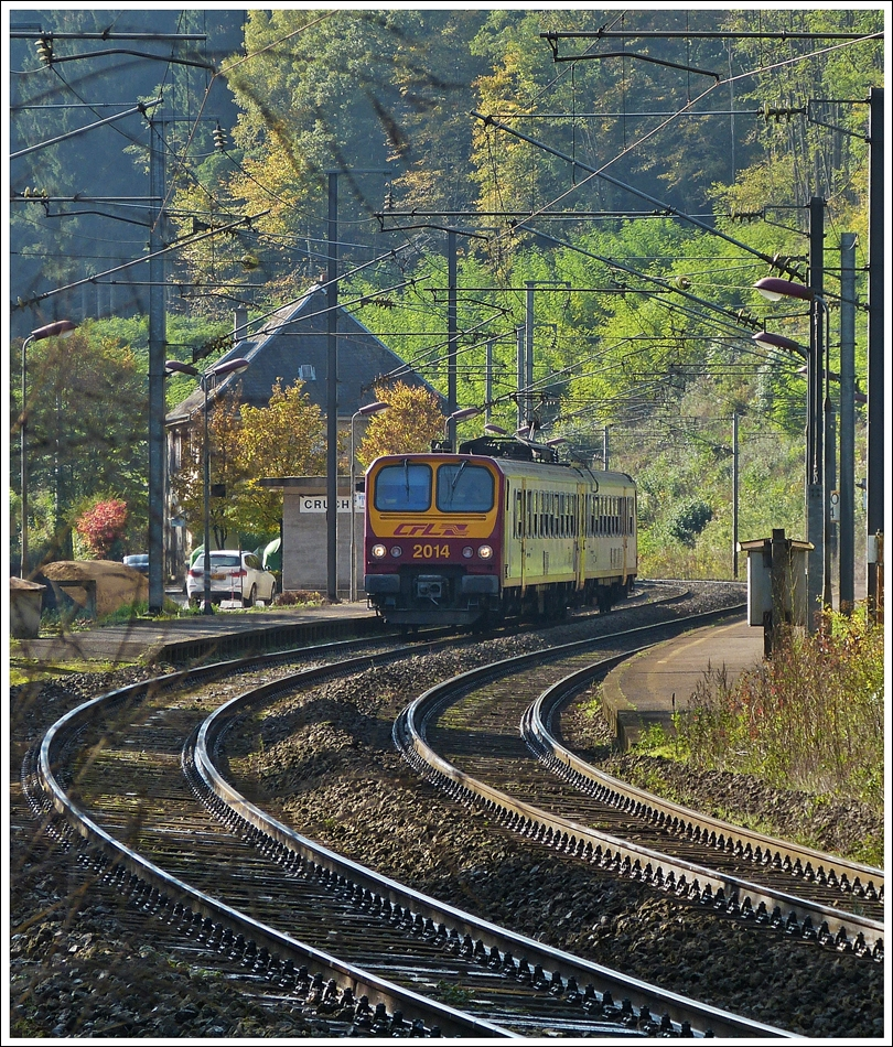 . Z 2014 is leaving the station of Cruchten on October 19th, 2013.