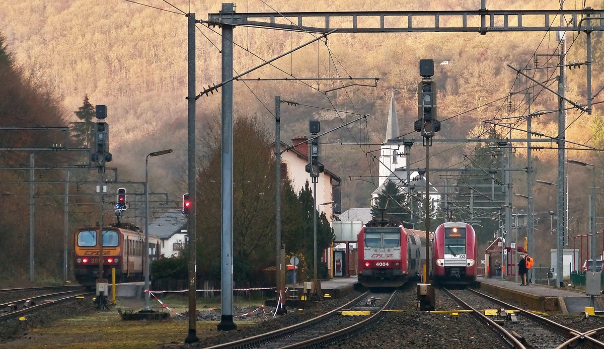 . Z 2019, 4004 and Z 2203 are meeting in Kautenbach on December 16th, 2014.