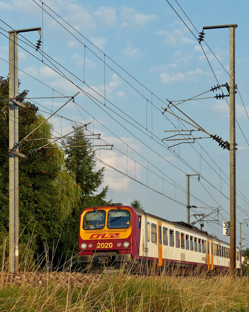 . Z 2020 is running between Lintgen and Mersch on August 1st, 2014.