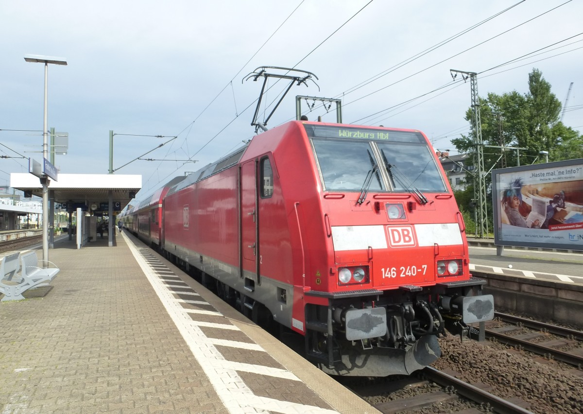 146 240-7 is standing in Frankfurt(Main) South on August 23rd 2013.