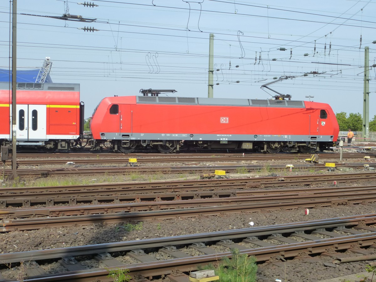146 xxx is driving between the main station and the Hohenzollernbridge in Cologne on August 22nd 2013.