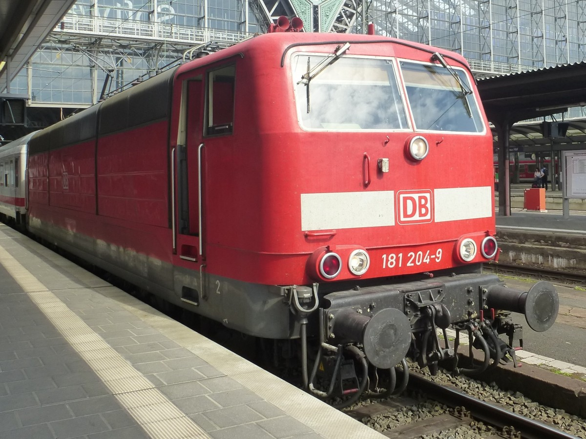 181 204-9 is standing in Frankfurt(Main) central station on August 23rd 2013.