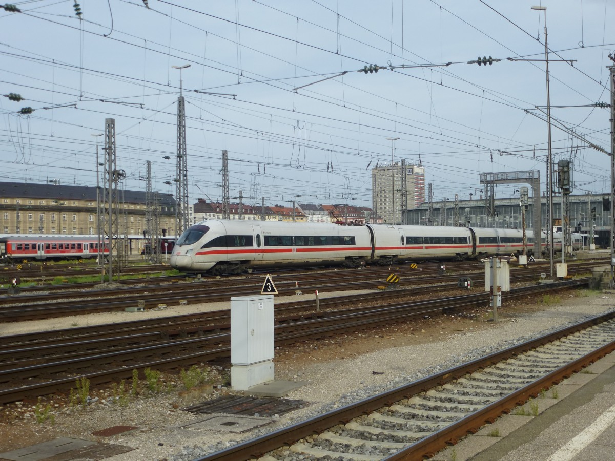 411 072-2  Bamberg  is arriving in Munich main station on September 22nd 2013.