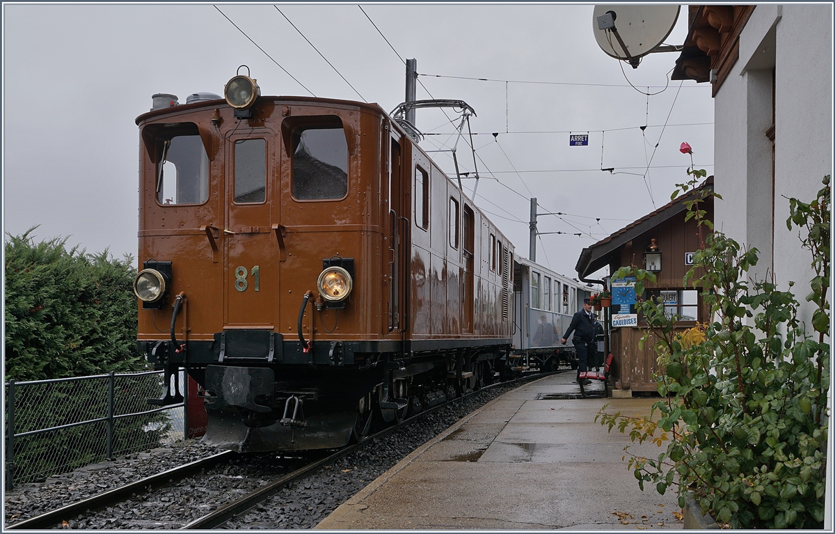 50 years Blonay -Chamby Railway - The last part: The Blonay Chamby Railways Bernaina Bahn Ge 4/4 81 (ex RhB Ge 4/4 181) in Chamby.