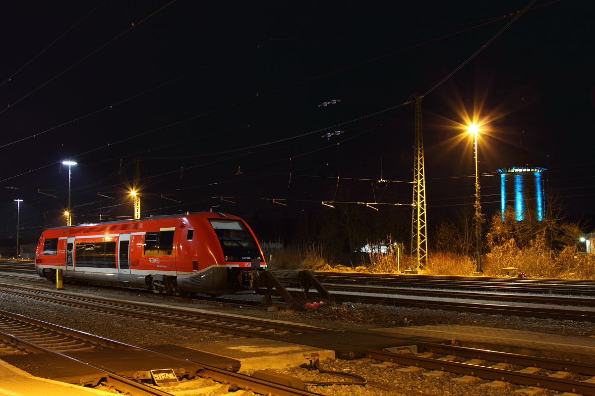 641 039 DB Regio parked in Lichtenfels on 17/03/2017.