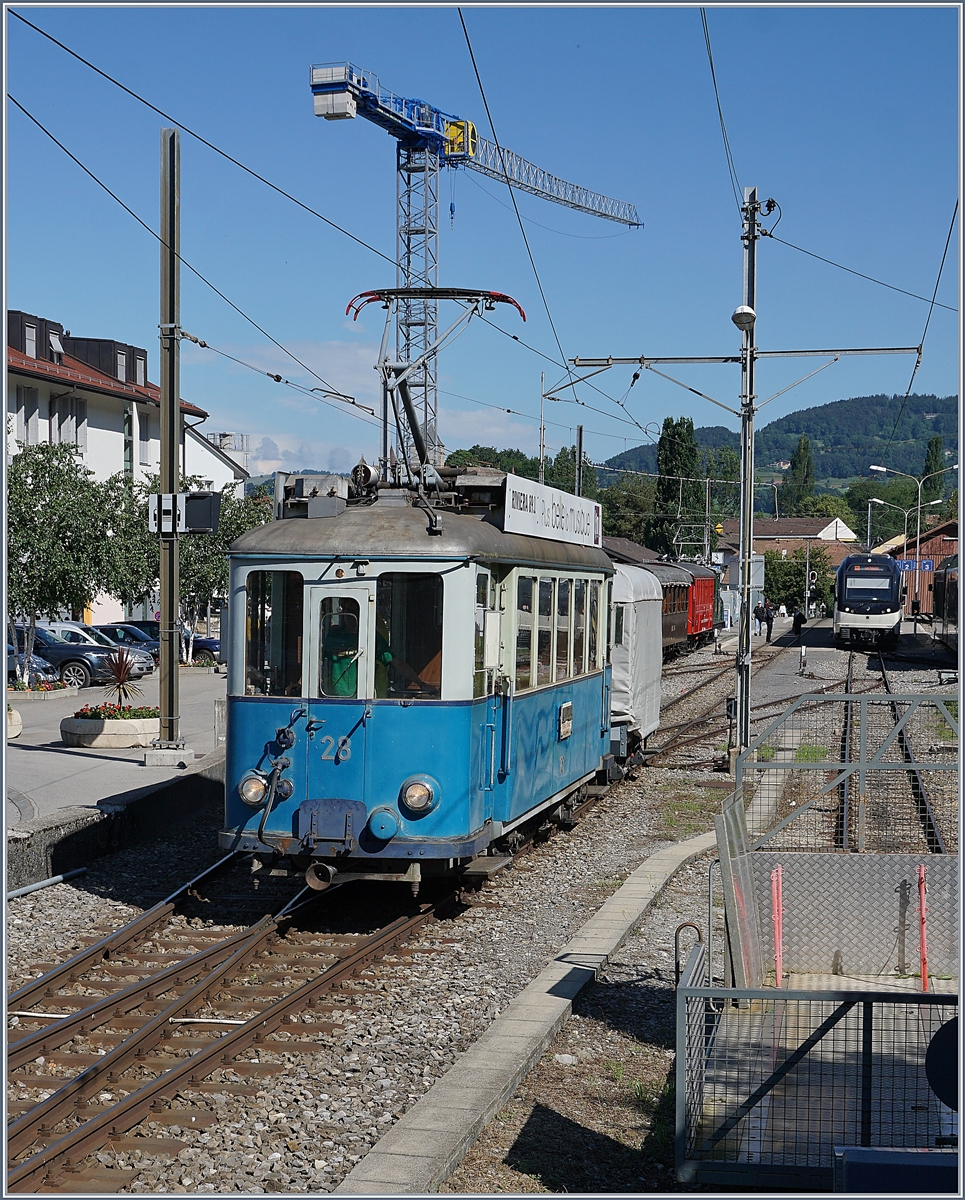 A Blonay-Chamby service train in Blonay.
