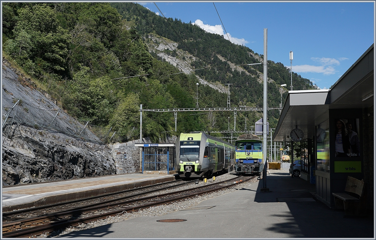 A BLS RABe 535  Lötschberger  on the way to Bern in Hohtenn. 