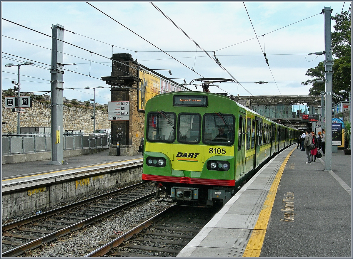 A DART Service in the Dún Laoghaire Station.