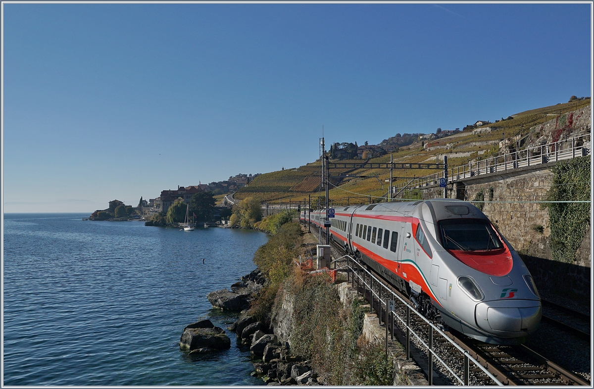 A FS ETR 610 on the way to Geneva by St Saphorin.