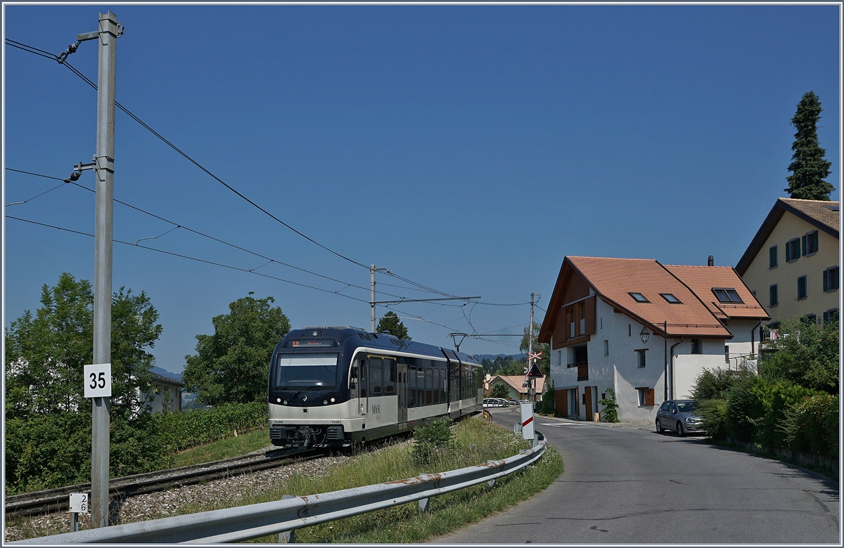 A MOB MVR local train to Montreux by Planchamp.