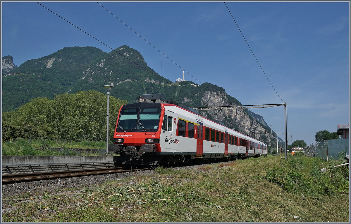 A Region Alps Domino on the way to Brig by his stop in Vouvry.