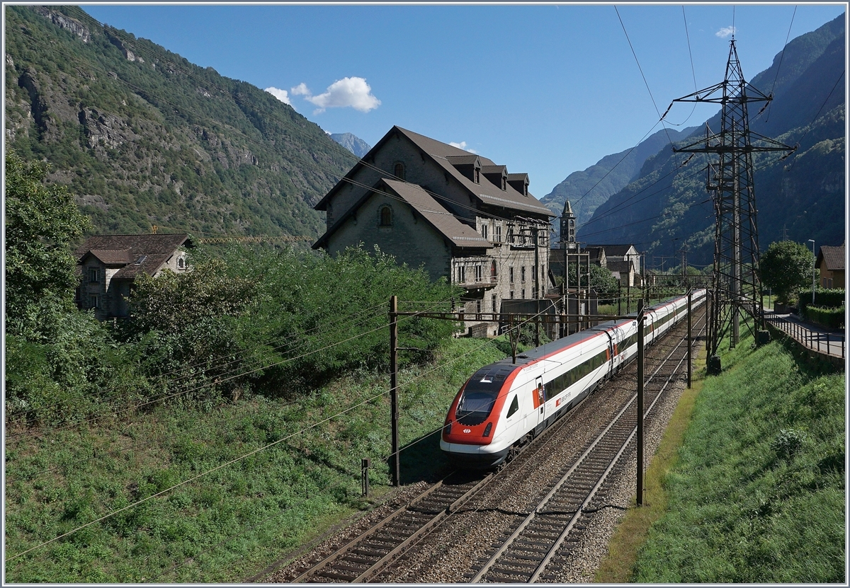 A SBB ICN on the way to Lugano by Giornico.