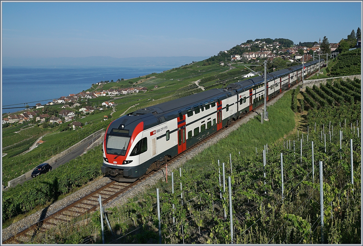 A SBB RABe 511 between Vevey and Chexbres. 