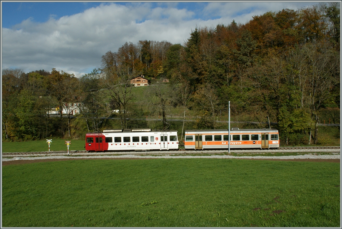 A TPF (ex GFM) local train between Chatel St Denis and Remaufens.