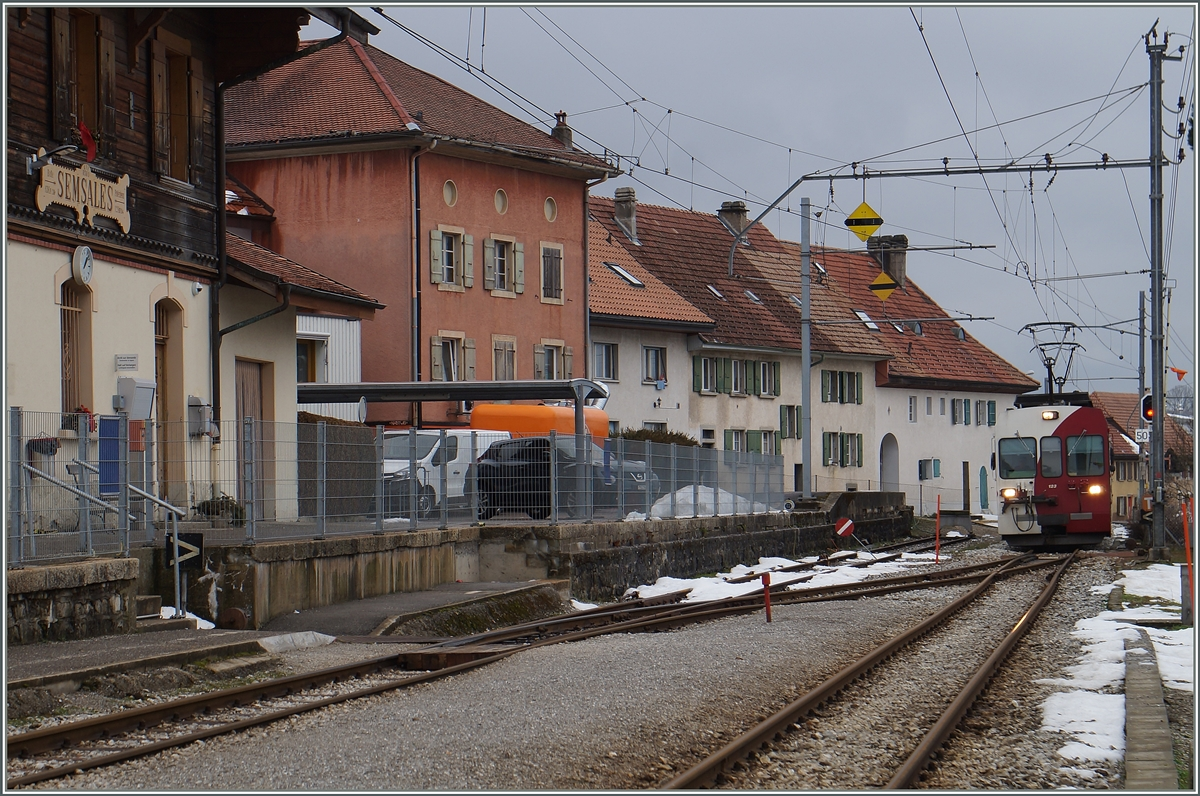 A TPF local train is arriving at Semsaleas.