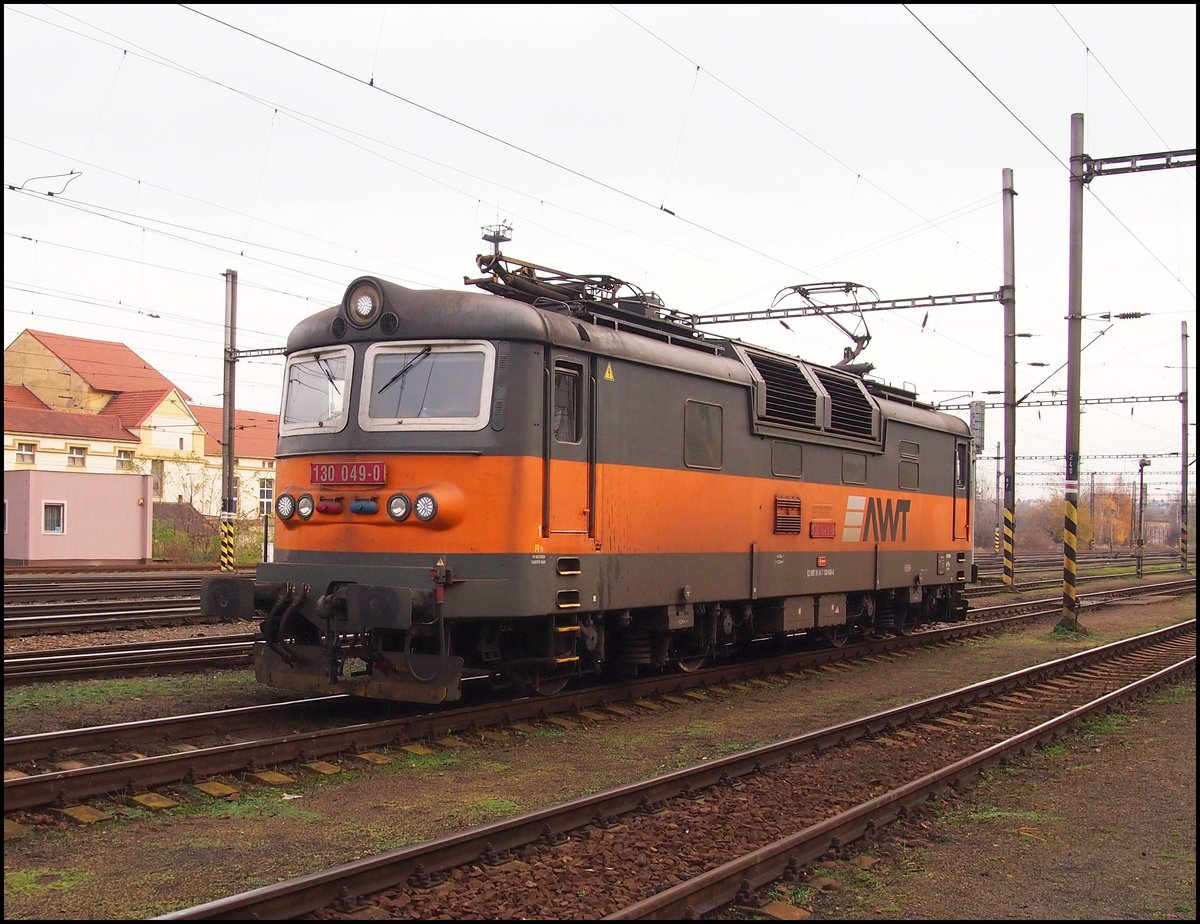 AWT 130 049-0 in Kralupy nad Vltavou Station on 25. 11. 2017.