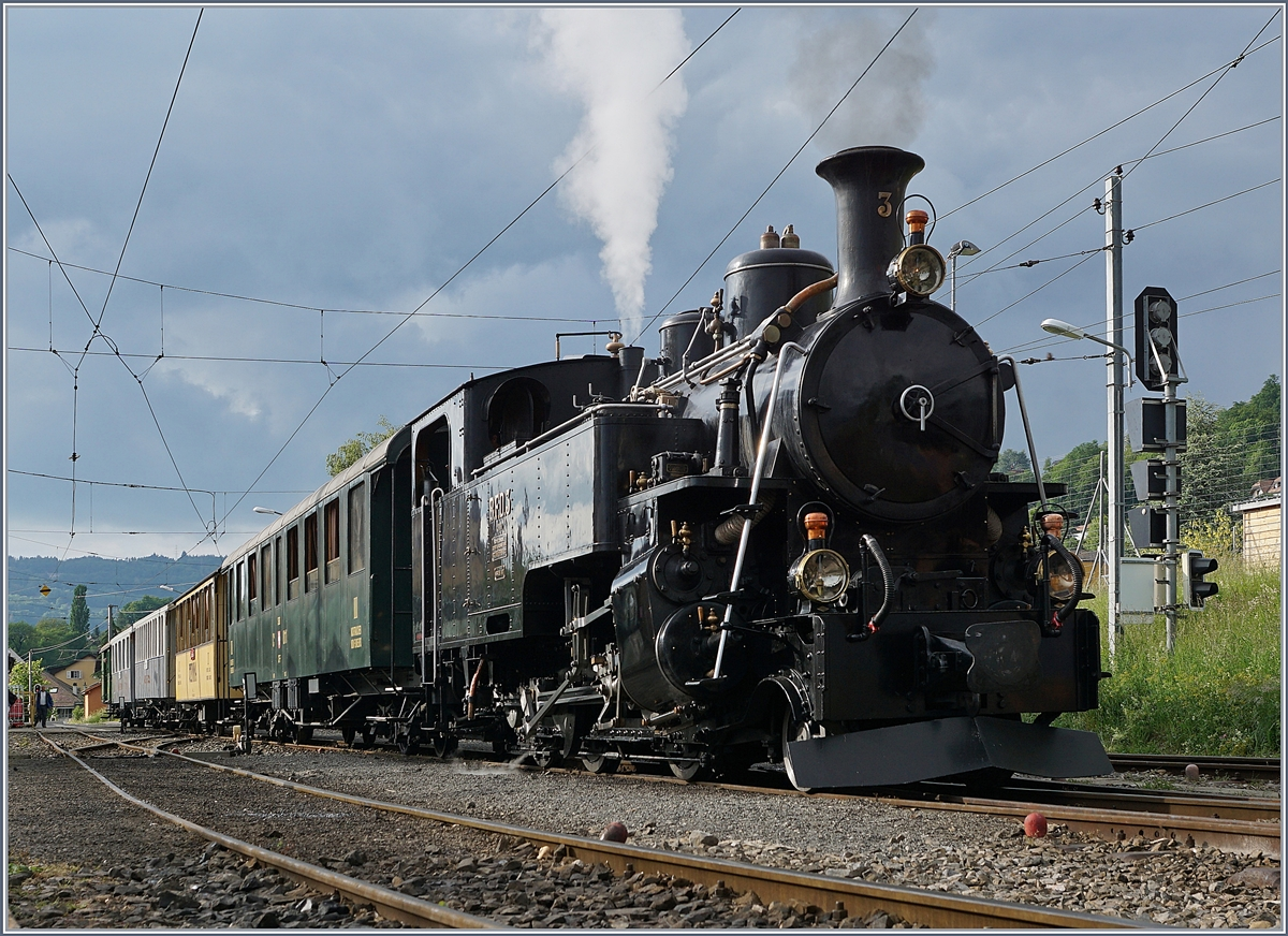 Blonay-Chamby Mega Steam festival 2018: The Blonay Chamby BFD HG 3/4 N° 3 in Blonay.