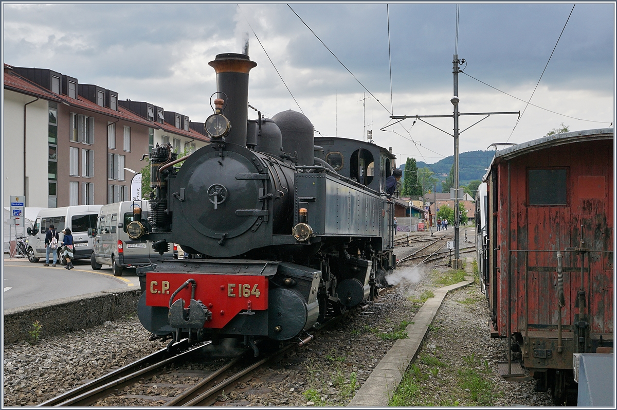 Blonay-Chamby Mega Steam festival 2018: The CP E 164 in Blonay.